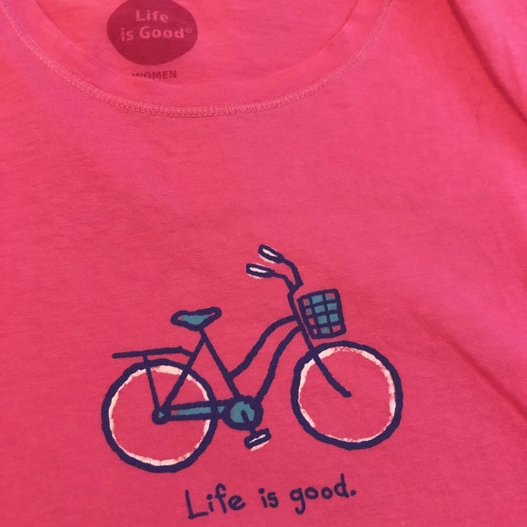 Life is Good Bicycle Tee
